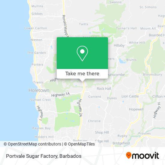 Portvale Sugar Factory map