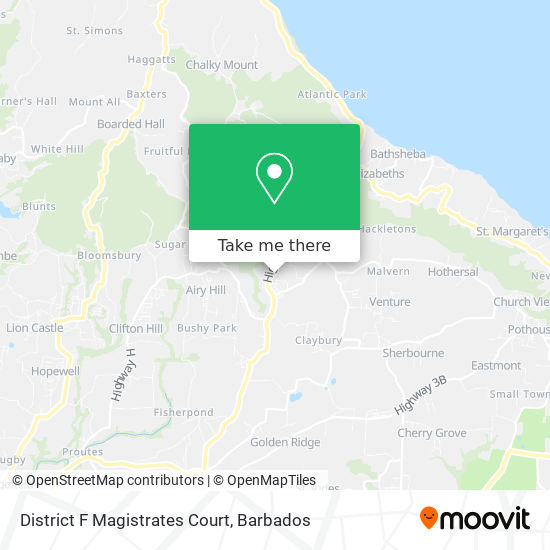 District F Magistrates Court map
