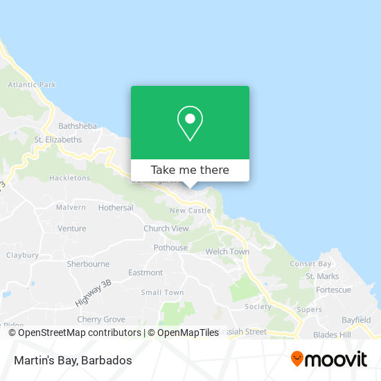 Martin's Bay map