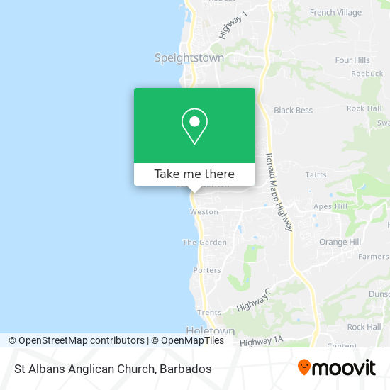 St Albans Anglican Church map