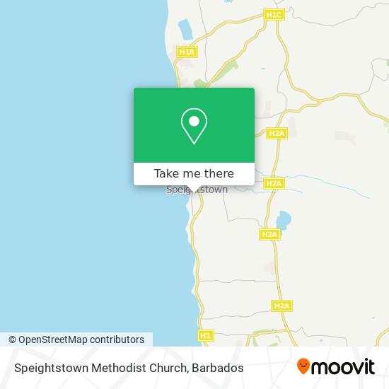 Speightstown Methodist Church map
