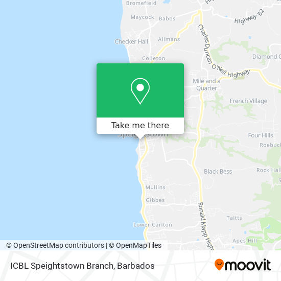 ICBL Speightstown Branch map