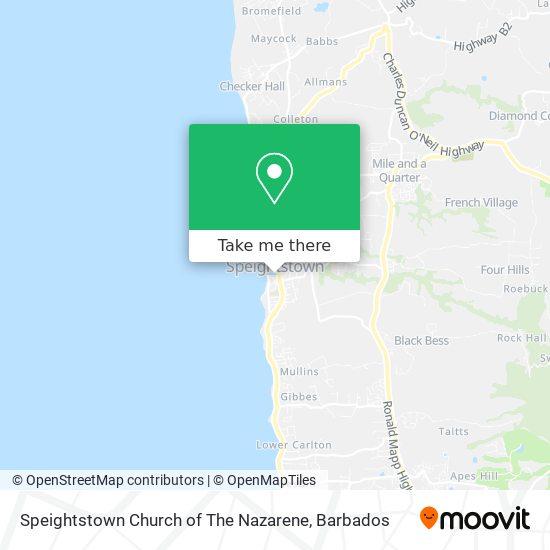 Speightstown Church of The Nazarene map