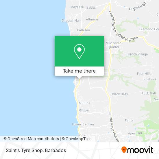 Saint's Tyre Shop map