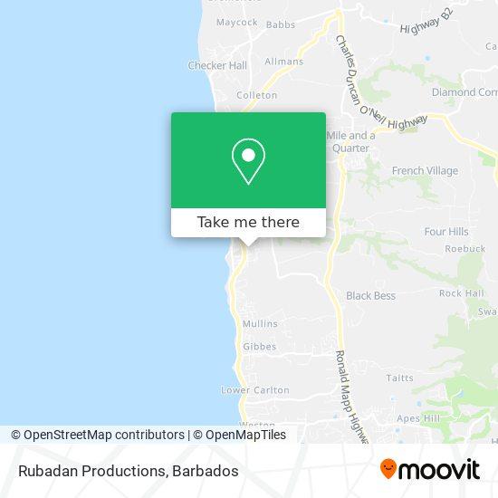 Rubadan Productions map