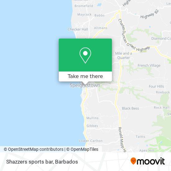 Shazzers sports bar map