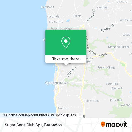 Sugar Cane Club Spa map