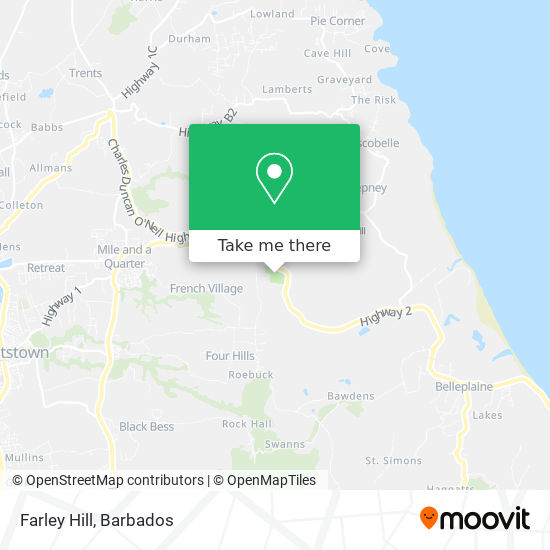 Farley Hill map
