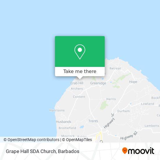 Grape Hall SDA Church map