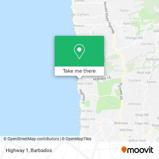 Highway 1 map