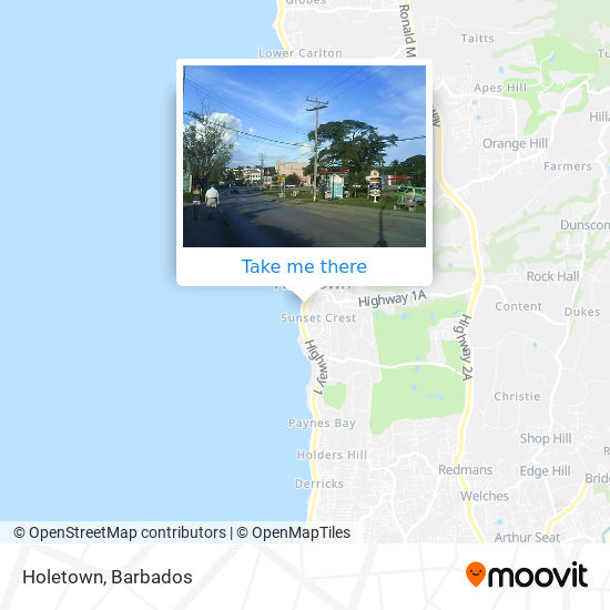 Holetown map