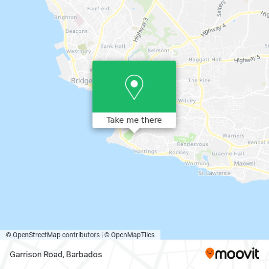Garrison Road map