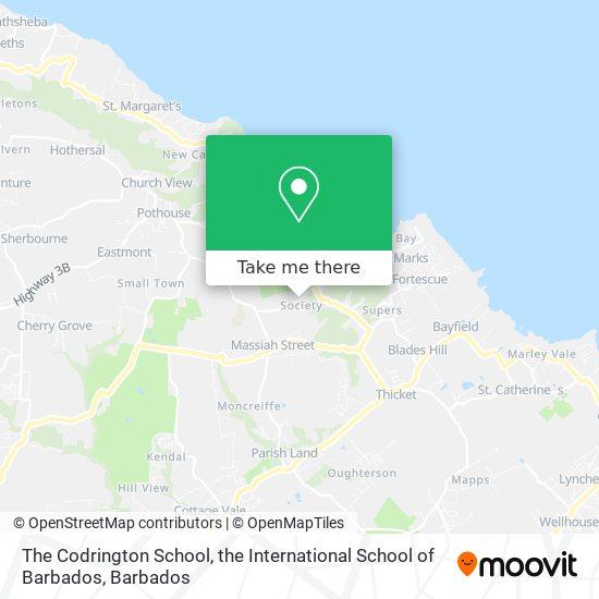 The Codrington School, the International School of Barbados map