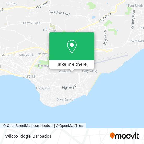 Wilcox Ridge map