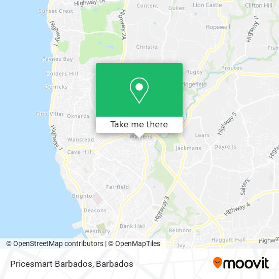 Pricesmart Barbados map