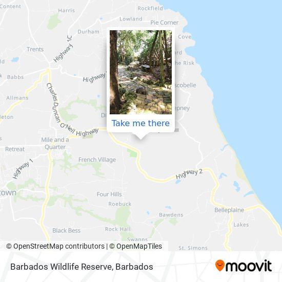 Barbados Wildlife Reserve map