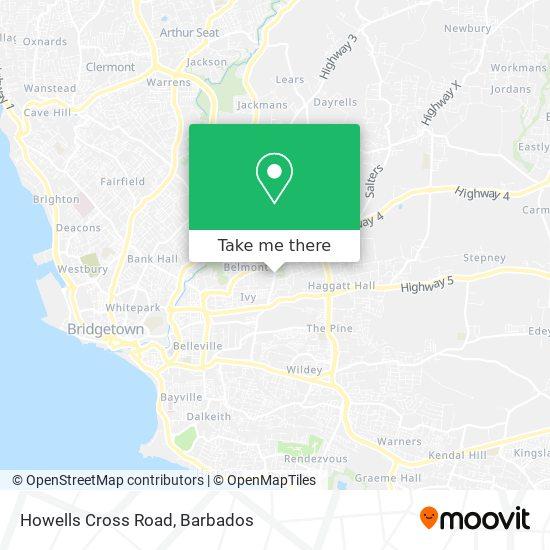 Howells Cross Road map