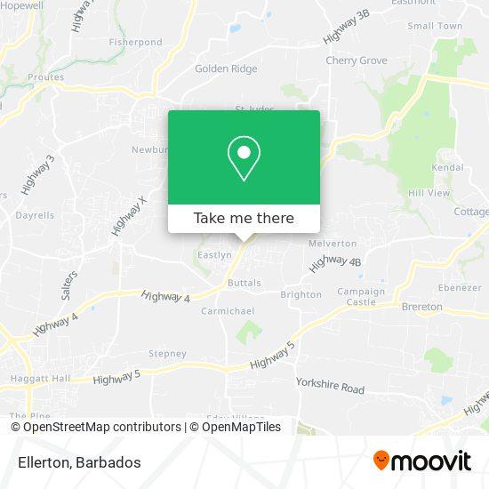 Ellerton map