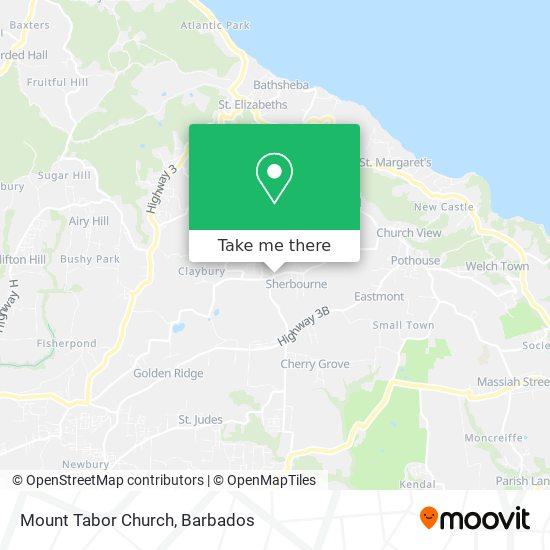 Mount Tabor Church map