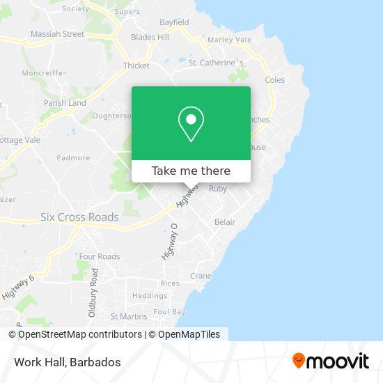 Work Hall map