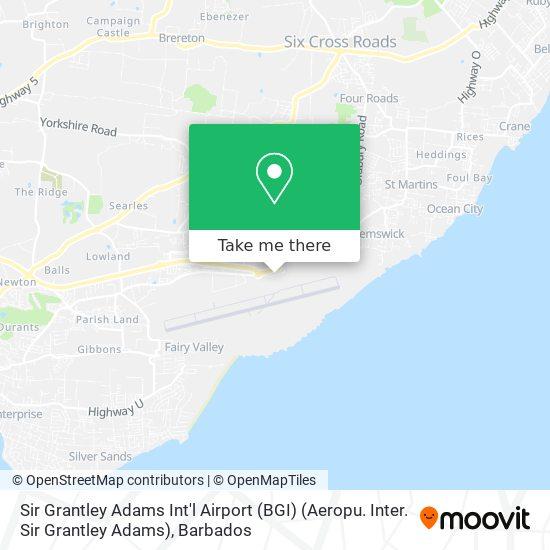 Sir Grantley Adams Int'l Airport (BGI) (Aeropu. Inter. Sir Grantley Adams) map