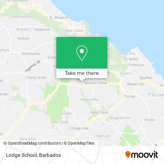 Lodge School map
