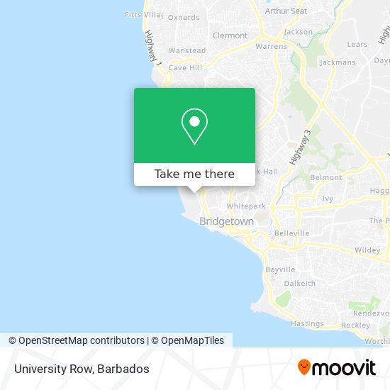 University Row map
