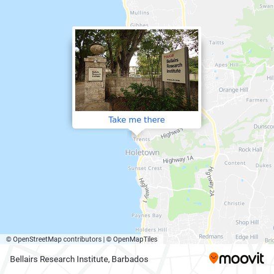 Bellairs Research Institute map