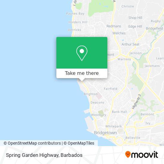 Spring Garden Highway map