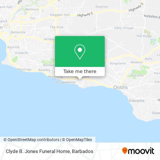 Clyde B. Jones Funeral Home map