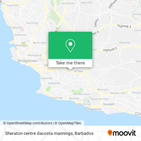 Sheraton centre dacosta mannings map