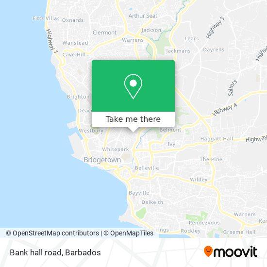 Bank hall road map