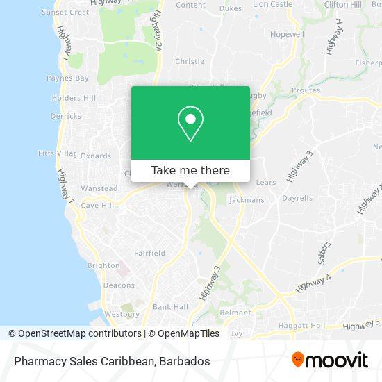 Pharmacy Sales Caribbean map