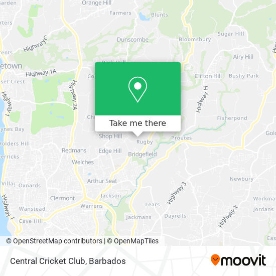 Central Cricket Club map