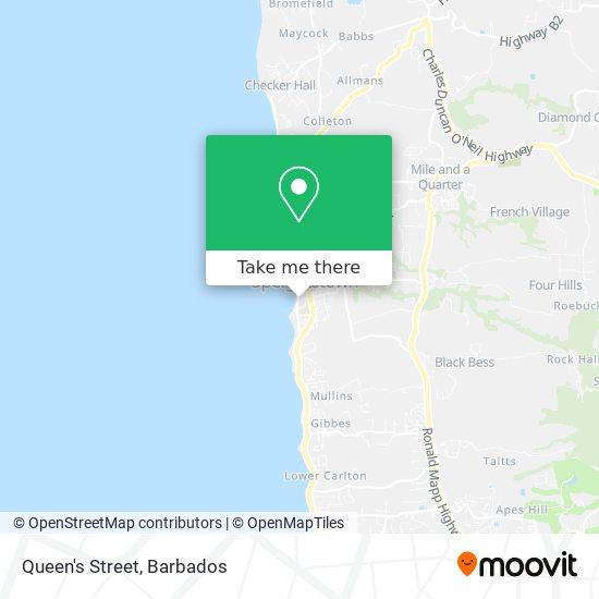 Queen's Street map
