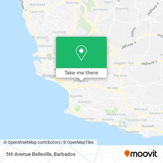 5th Avenue Belleville map