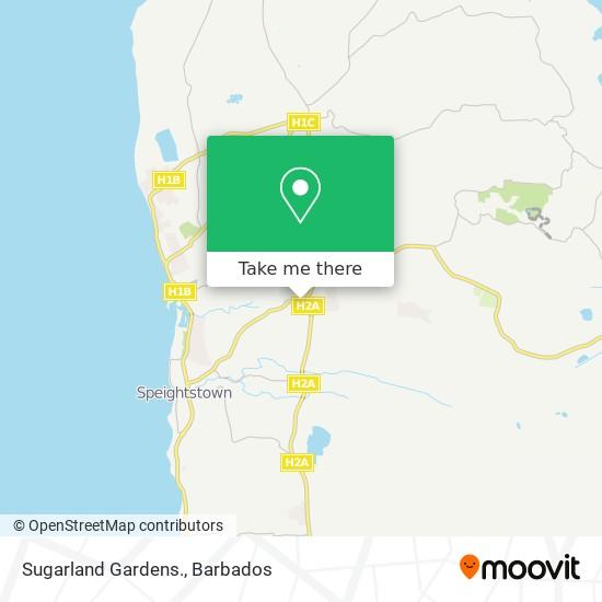 Sugarland Gardens. map