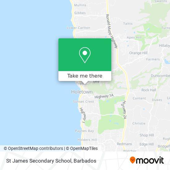 St James Secondary School map