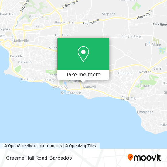 Graeme Hall Road map