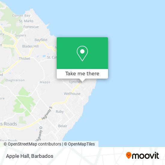 Apple Hall map