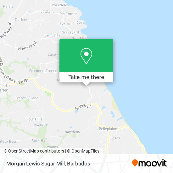 Morgan Lewis Sugar Mill map
