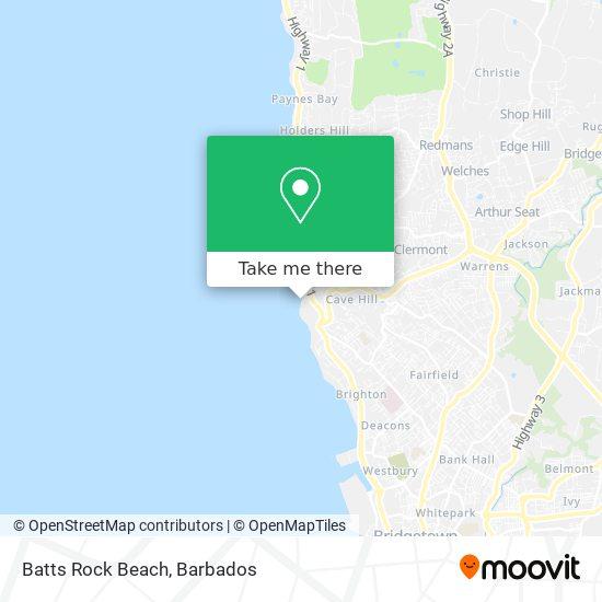 Batts Rock Beach map