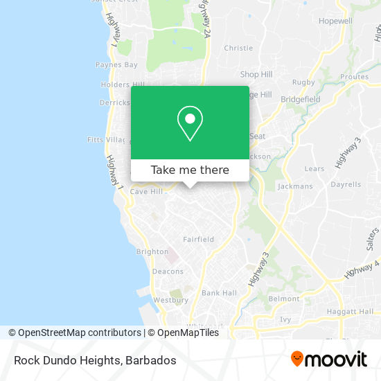 Rock Dundo Heights map