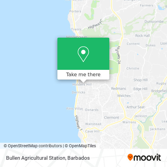 Bullen Agricultural Station map