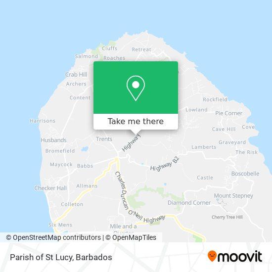 Parish of St Lucy map