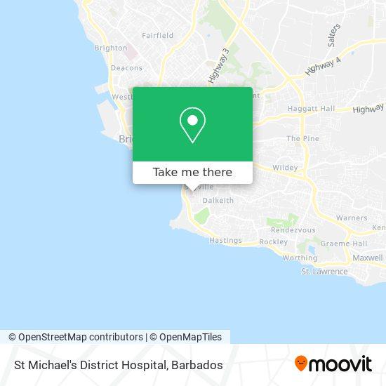 St Michael's District Hospital map