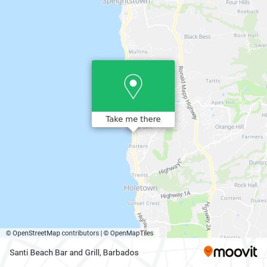 Santi Beach Bar and Grill map