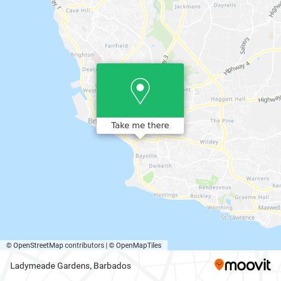Ladymeade Gardens map