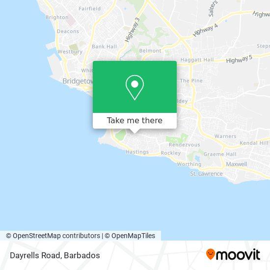 Dayrells Road map