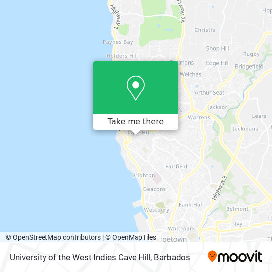 University of the West Indies Cave Hill map